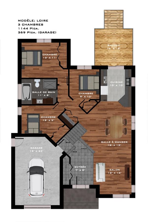 Mod les de maison for Ajout garage maison